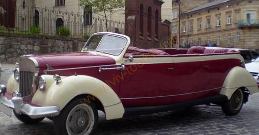 екскурсії по Львову, оренда ретро автомобіля
